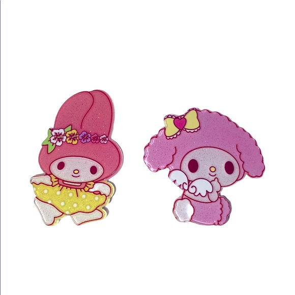 My Melody hair clips